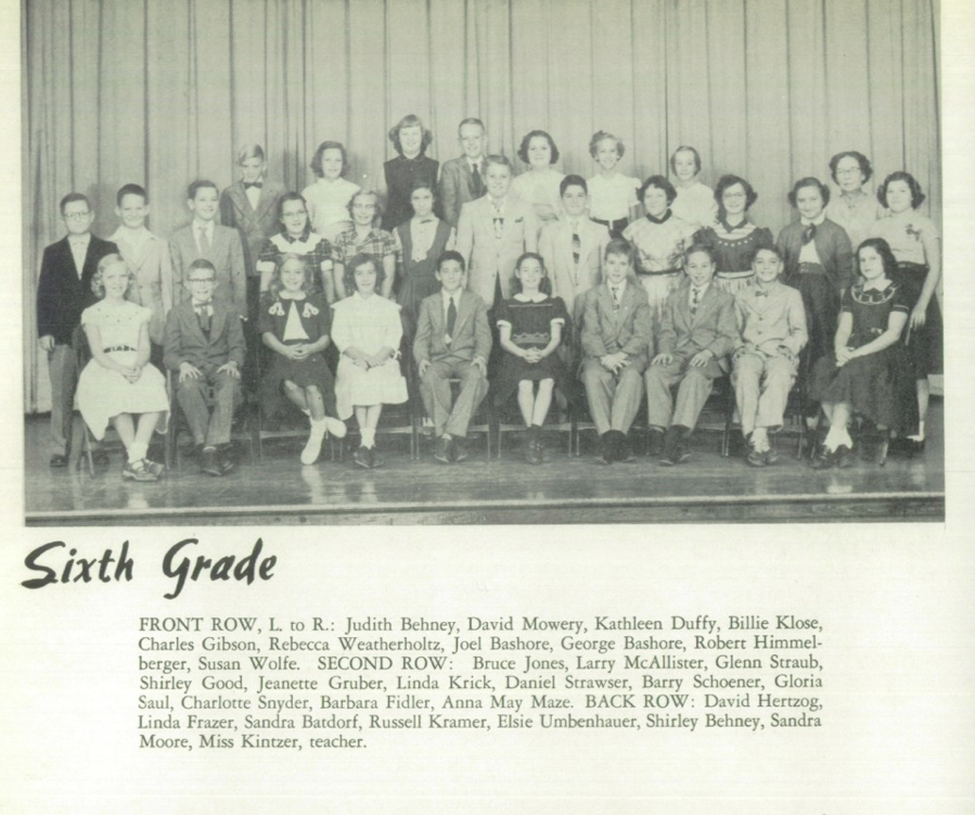 Womelsdorf Yearbook 1955 6th Grade Bashores.png