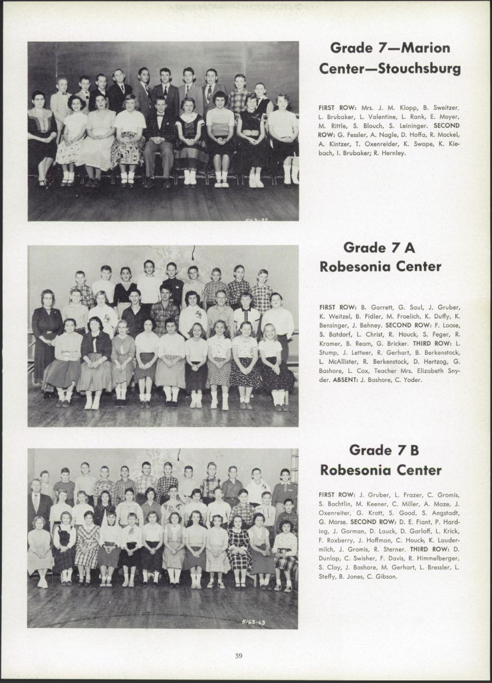 Womelsdorf Yearbook 1956 7th Grade Bashore Joel absent.jpg