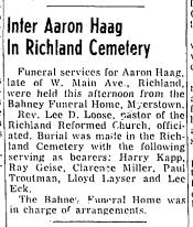 Aaron Haak's funeral notice.png