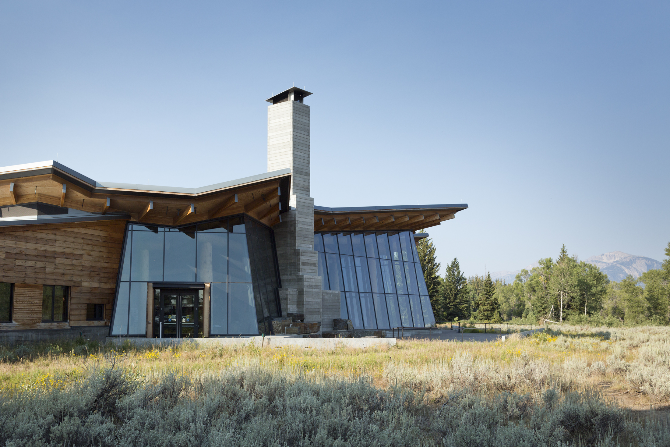 Craig Thomas Discovery & Visitor Center  Grand Teton National Park  Bohlin Cywinski Jackson   Back to Portfolios
