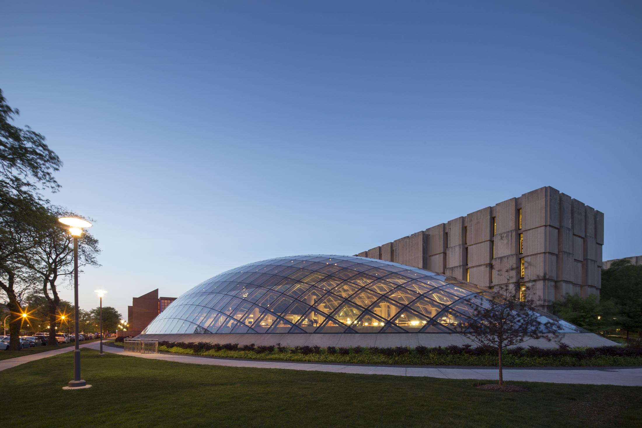 Joe and Rika Mansueto Library  University of Chicago  Helmut Jahn   Back to Portfolios