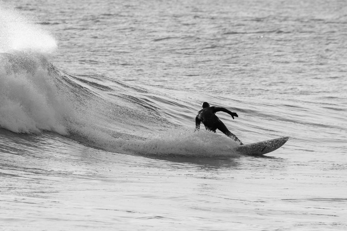 Surfer/Shaper: Roger Beal  March 2016  Hull, MA  Nikon DSLR