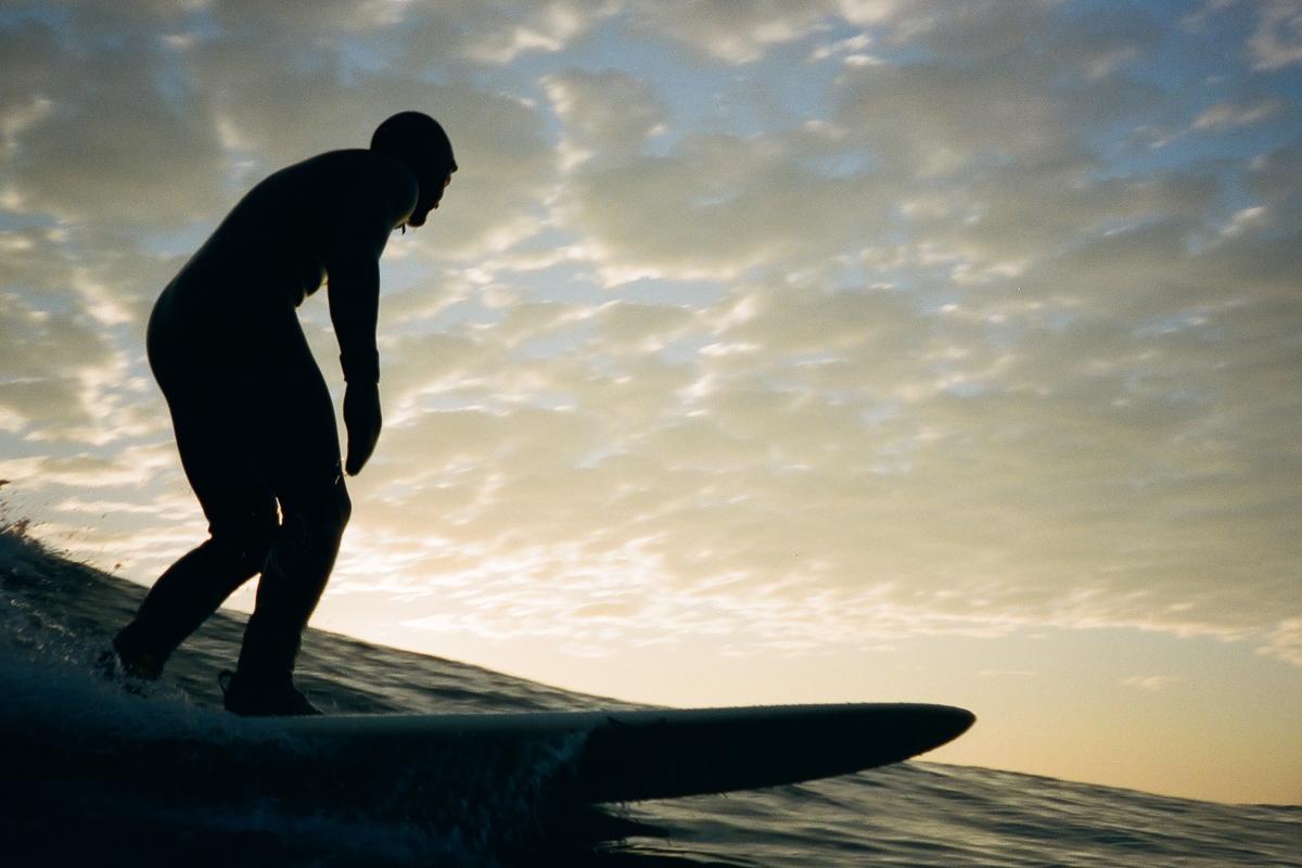 Surfer CJ Congrove  February 2017  Hull, MA  Nikon 35mm SLR  Kodak color film