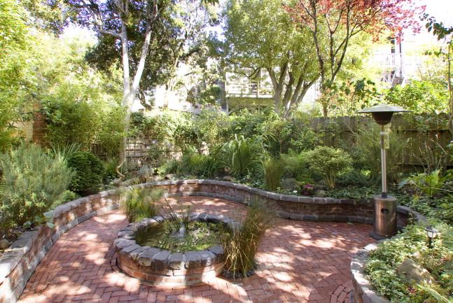 Exterior shot of garden