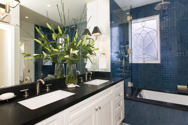 Master bath of Ashbury Heights home