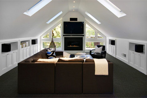 Attic at Ashbury Heights Home