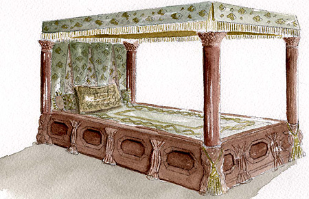 Hearst Castle Bed