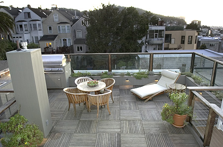 Arial view of custom deck