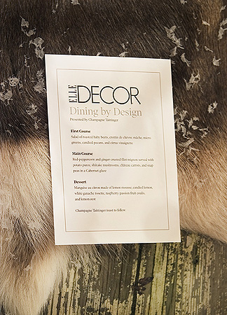 Menue for Diffa Design