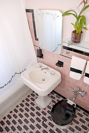 Arial shot of Master Bathroom