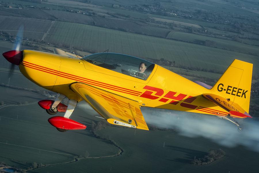 Smoke on, go!! 2000ft above Cambridgeshire with G-EEEK.