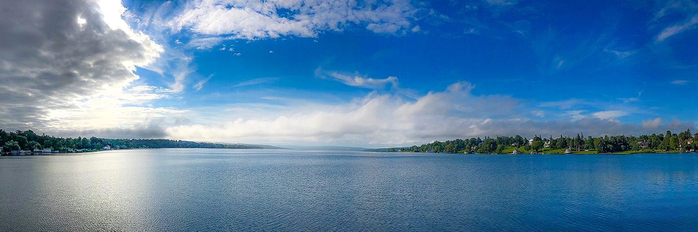 """Looking out at Skaneateles Lake from Thayer Park, just down the road from our house. Sometimes """"working from home"""" means sitting on the ground, and leaning against a tree next to the Lake."""