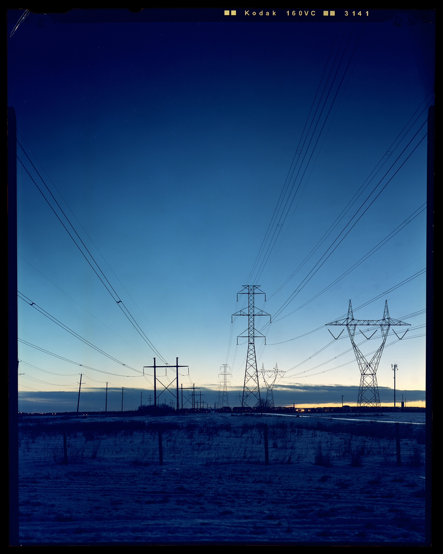 Power Lines At Sunrise | Toyo Omega View 45D Nikkor W150 f5.6 | Jordan Urie