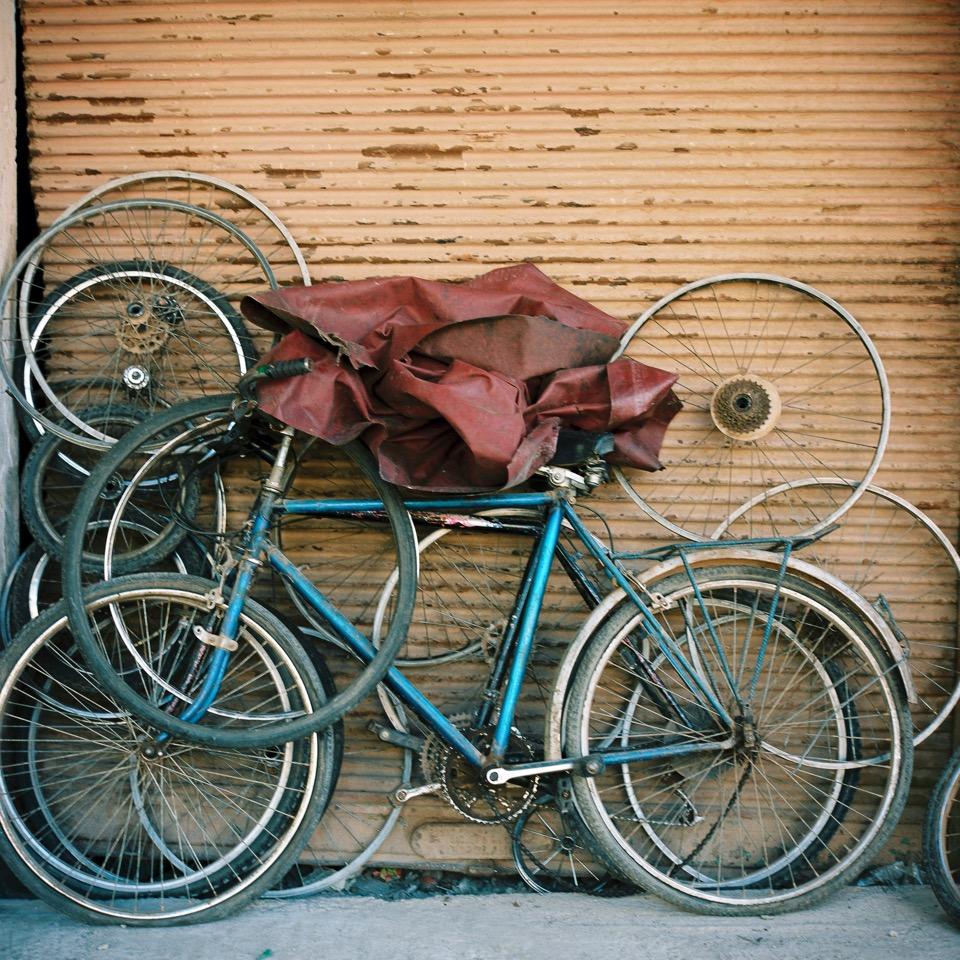 Bikes | Rolliefelx f2.8 Portra | Huda Almughni