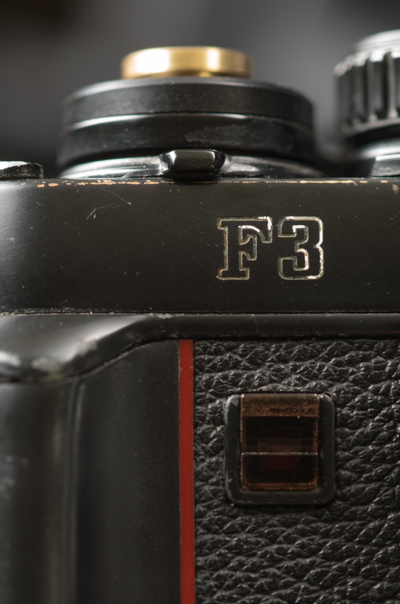 """The """"F3"""" designation on the front of the body"""