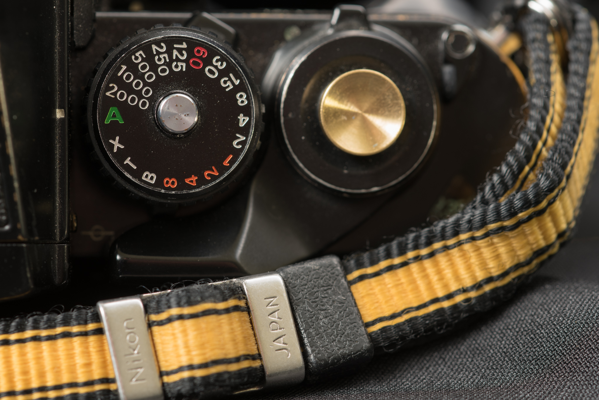 Close-up of top-right controls