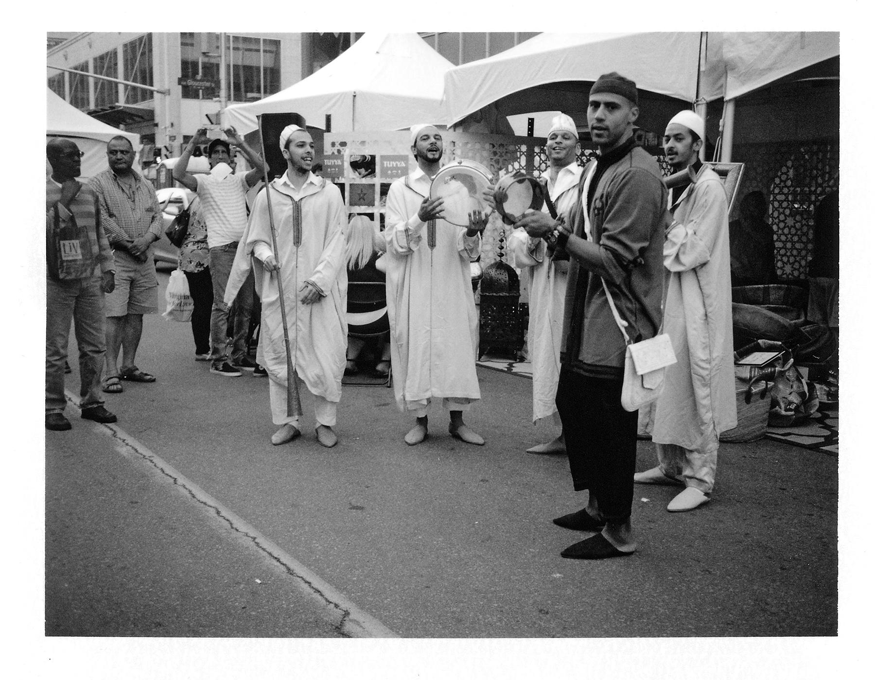 Moroccan Band  Polaroid Land Camera   Fuji Film FP-3000b   Howard Sandler