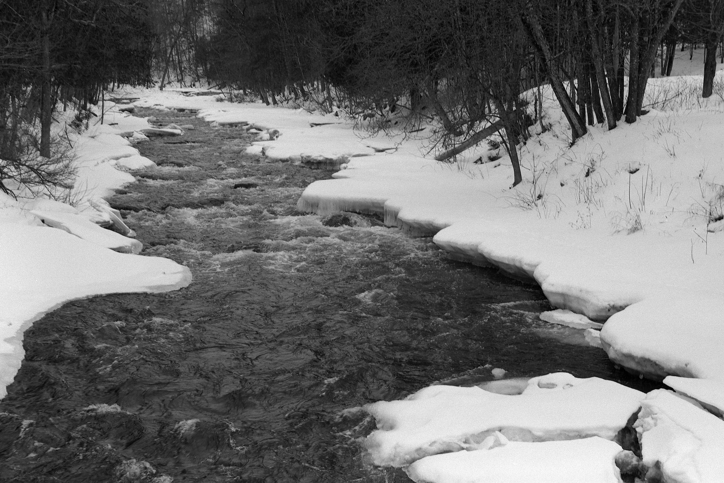 Black water white snow | Rodenstock Clarovid | delta400 | Howard Sandler