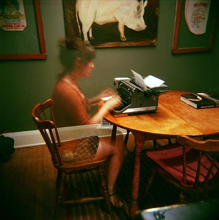 The Invisible Typer | Holga | Sarah Taft