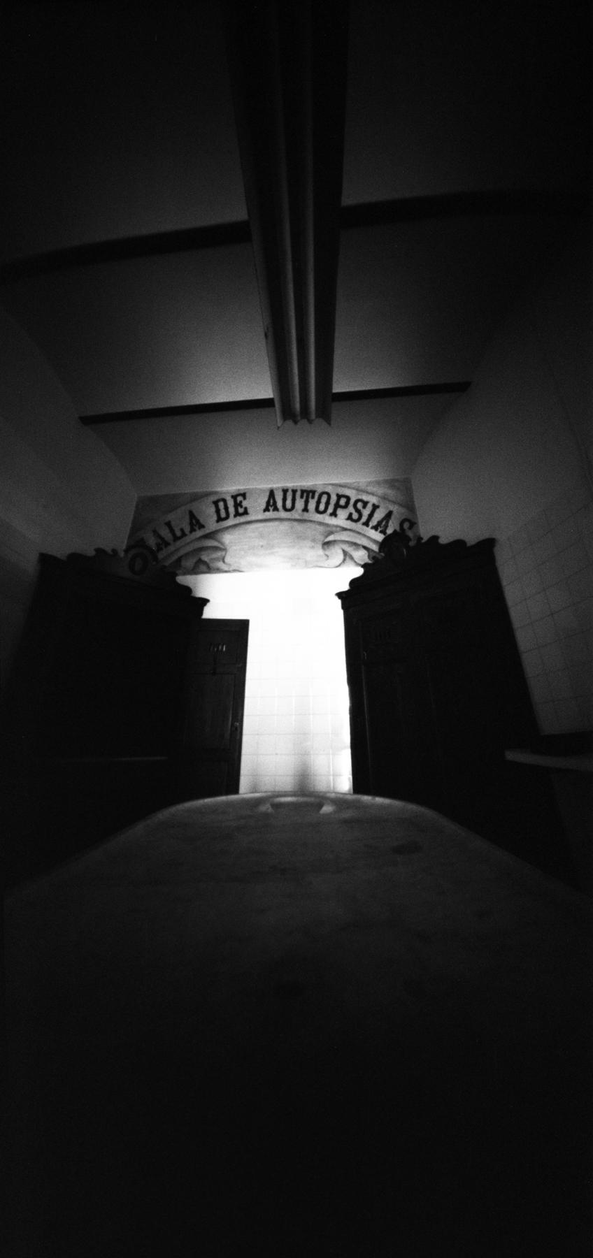Jesús Joglar | Autopsy Room | 6x12 pinhole | Ilford HP5