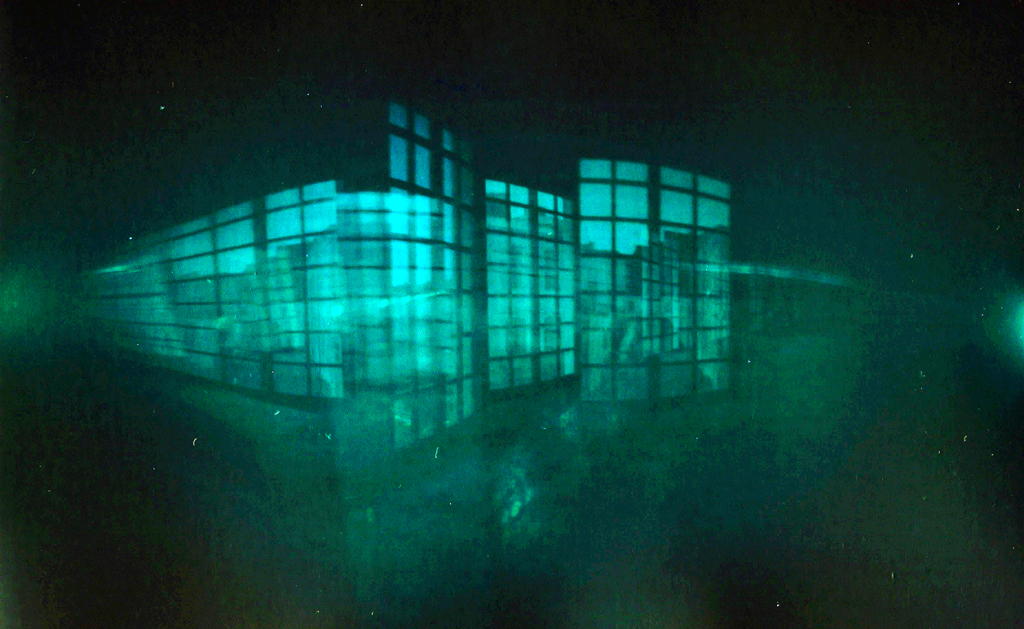 """MULTIVERSE [INSIDE CAN MANYER LIBRARY, VILASSAR DE DALT]. EXPOSED FROM 14 JUNE 2014 TO 25 NOVEMBER 2014. THE CAMERA FELL OFF ITS ORIGINAL LOCATION PRODUCING THIS """"HAPPY ACCIDENT"""" MULTIPLE EXPOSURE."""