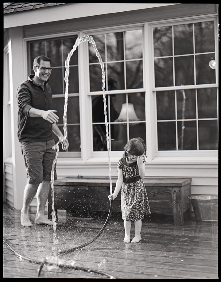 Ellen Goodman | Hosing off the Deck | Pentax 6x7
