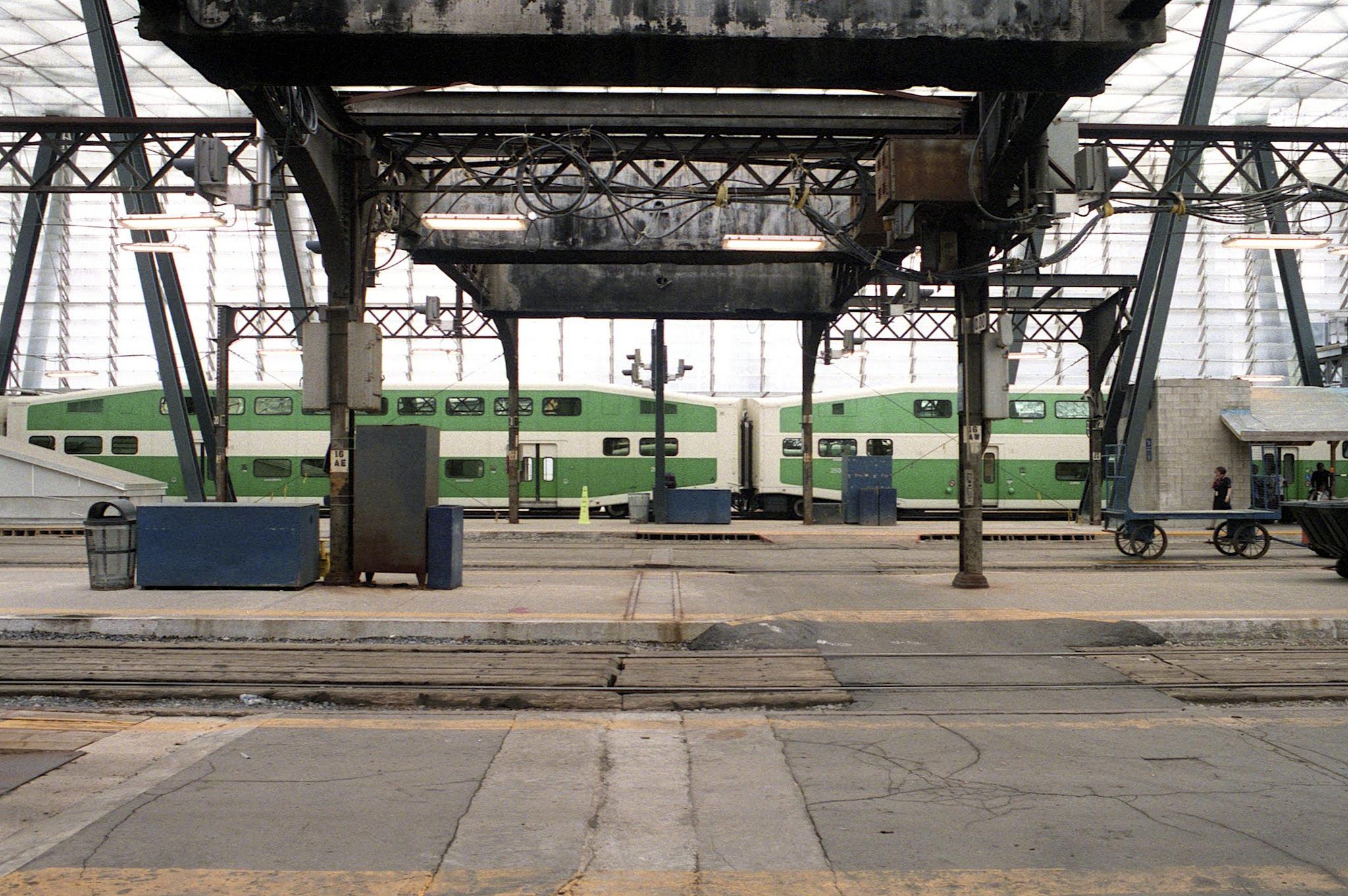 Track Level Toronto Union Station - Olympus OM-4 - Zuiko 28mm f/3.5 - Fuji Pro 400H