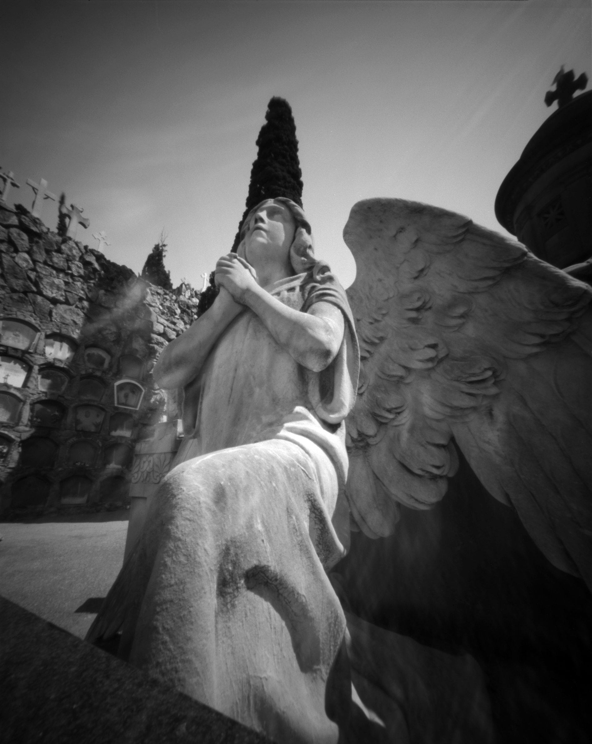Cemetery of Montjuic - Barcelona, Spain - Fomapan 100 ASA in a The Robert Rigby Pinhole Camera - developed on homebrew 510-pyro