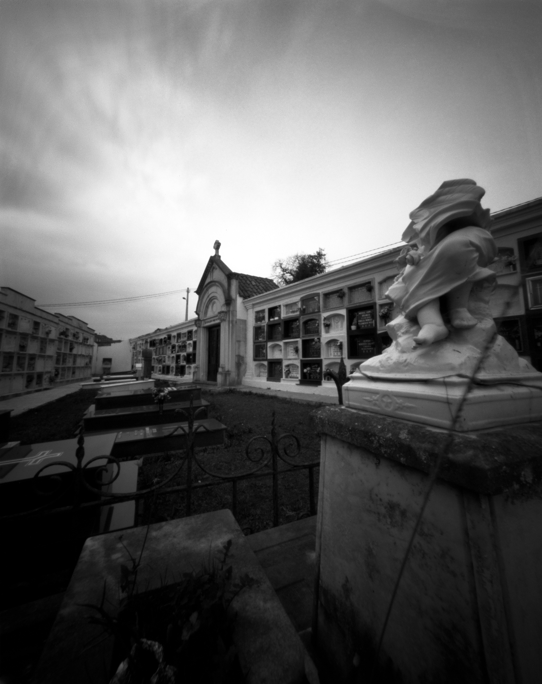 Cemetery of Lastres - Asturias, Spain - Fomapan 200 ASA in a Zero image 45 pinhole camera
