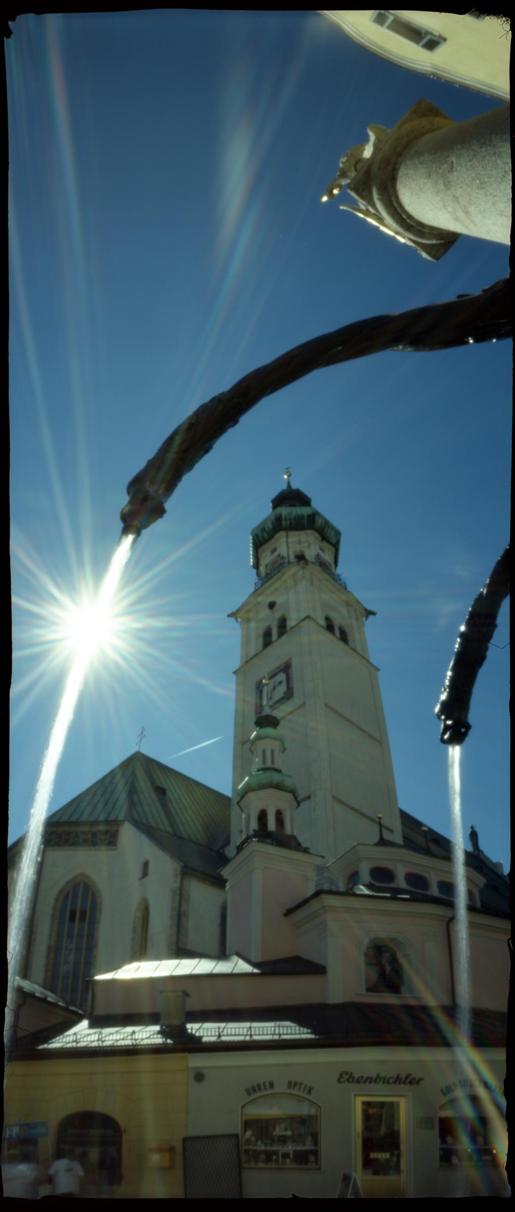 Sant Nikolaus parish church - Hall in Tirol, Austria - Kodak Ektar 100 ASA in a Wheehamx panoramic curved plane 6x12 pinhole camera
