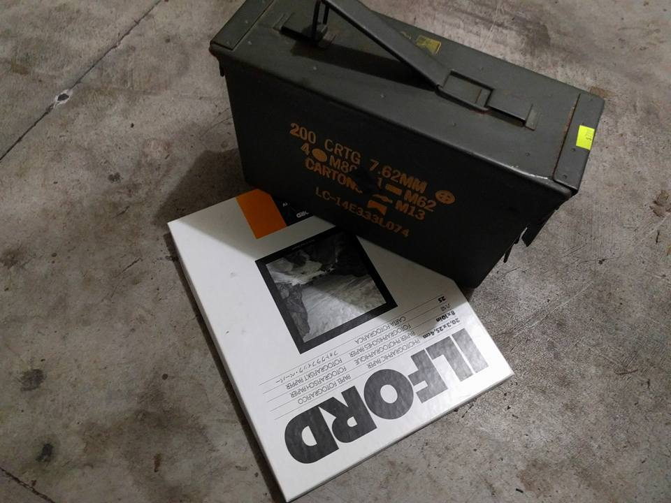 Ammo can camera and paper negative
