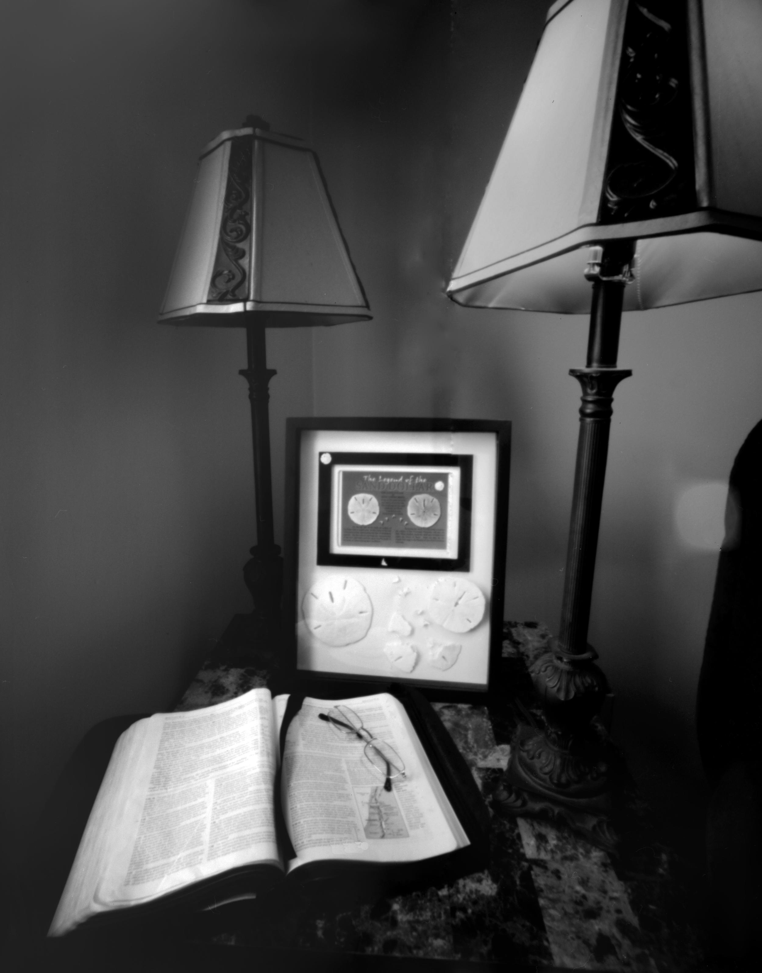 End Table | Delta 100, Lensless camera co. 4x5