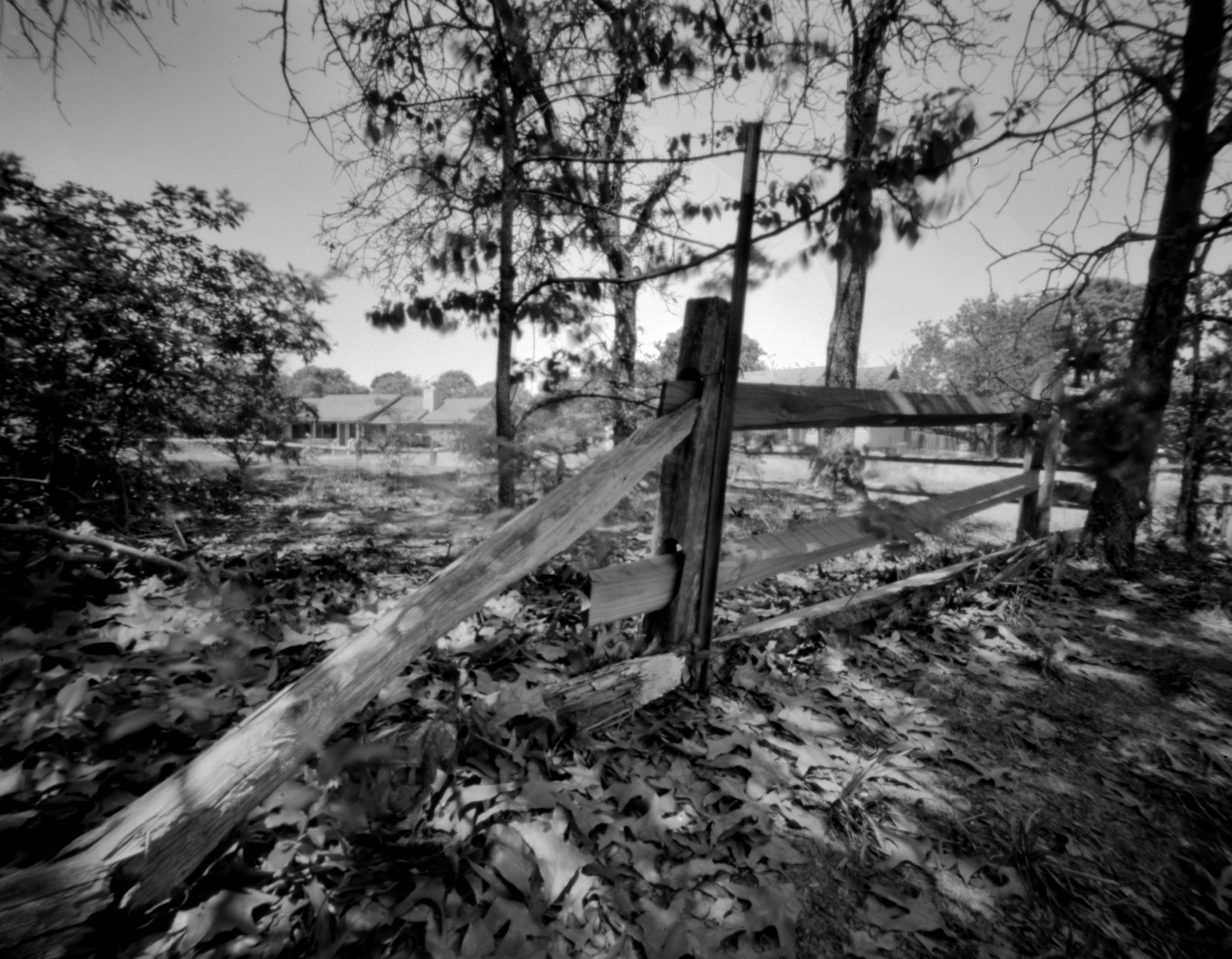 rail fence | Delta 100 , 4x5 lensless camera co