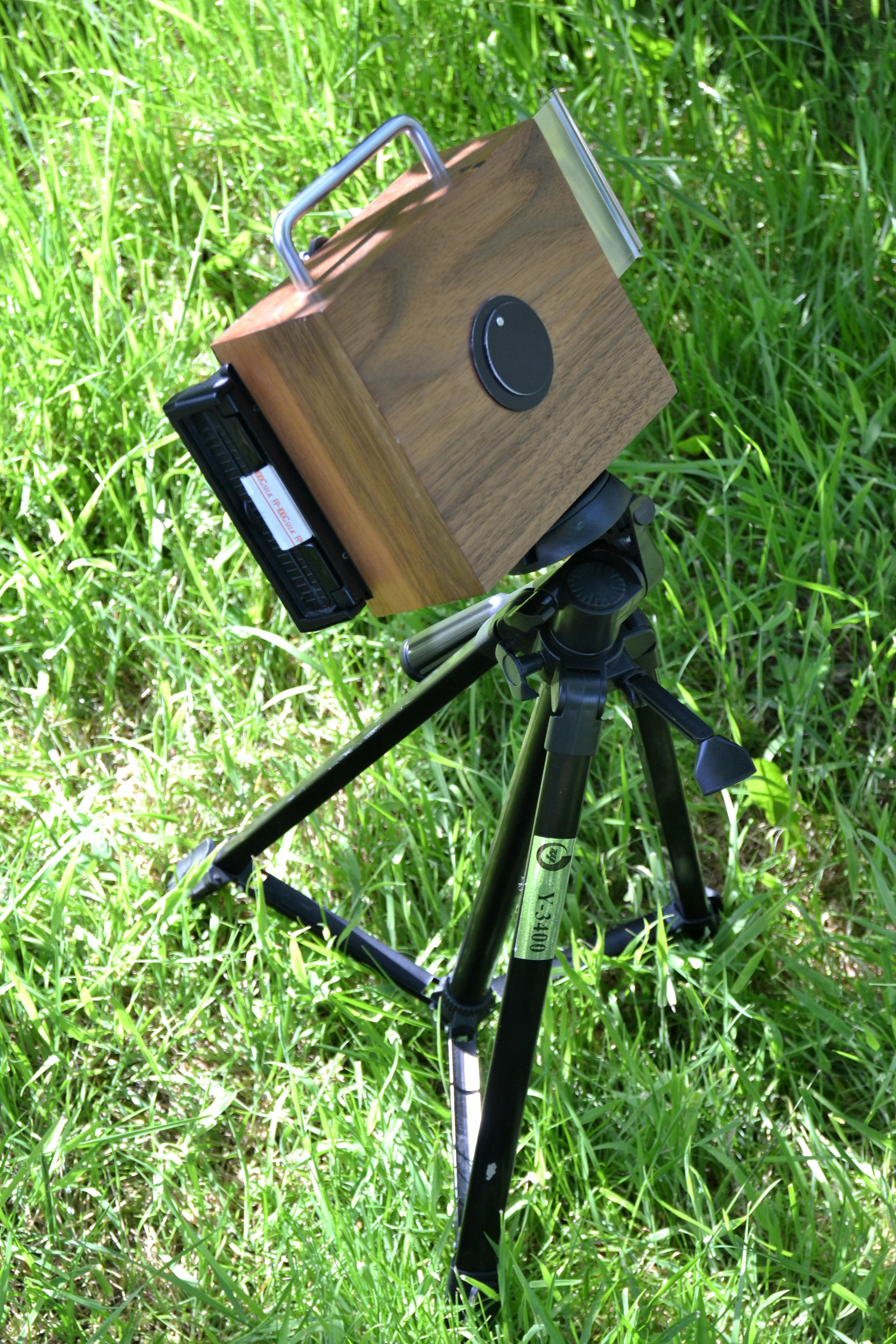 5x4 pinhole camera, polaroid back