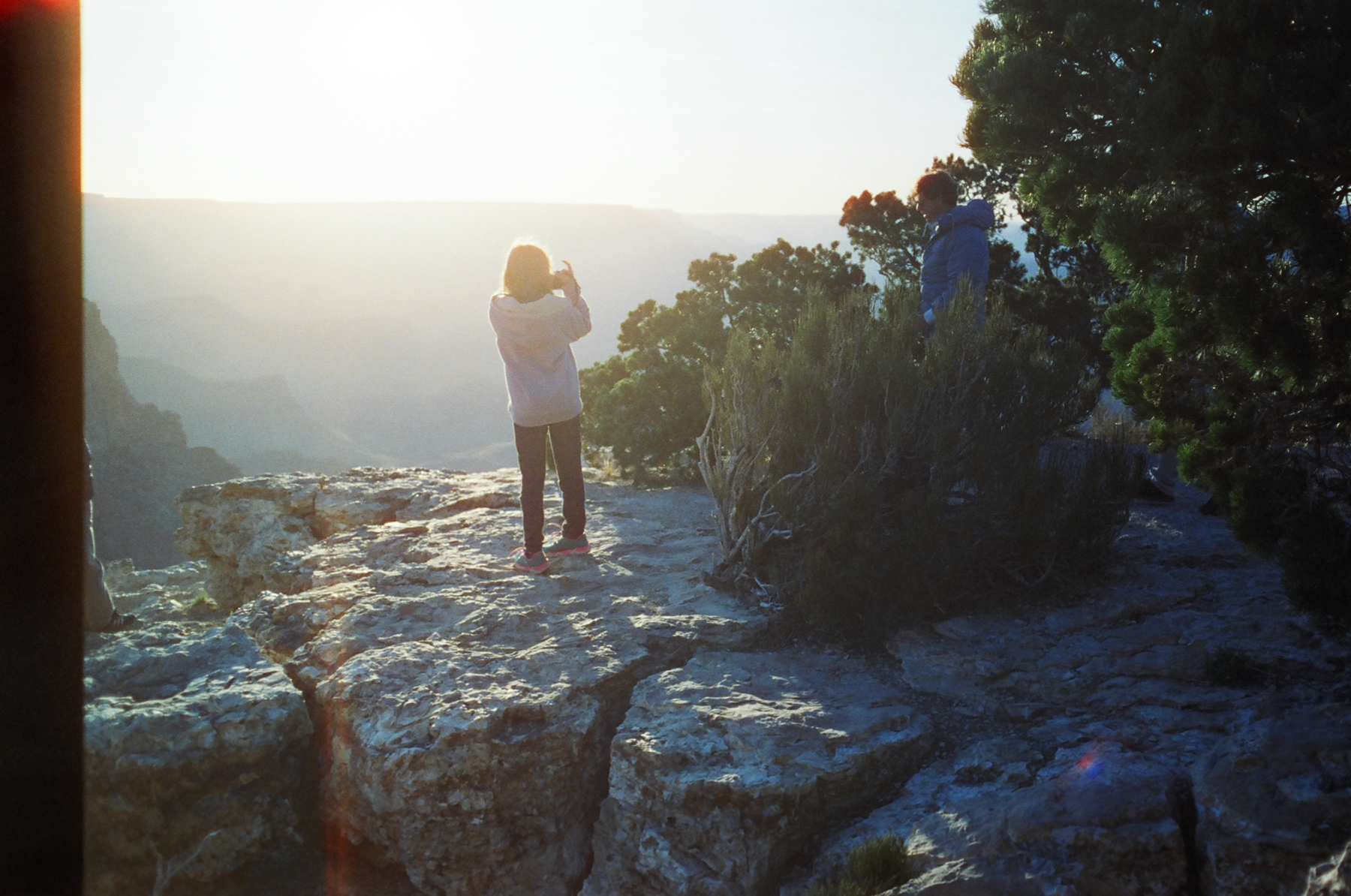My daughter Celia at the Grand Canyon South Rim.  These are good days and lessons to remember.