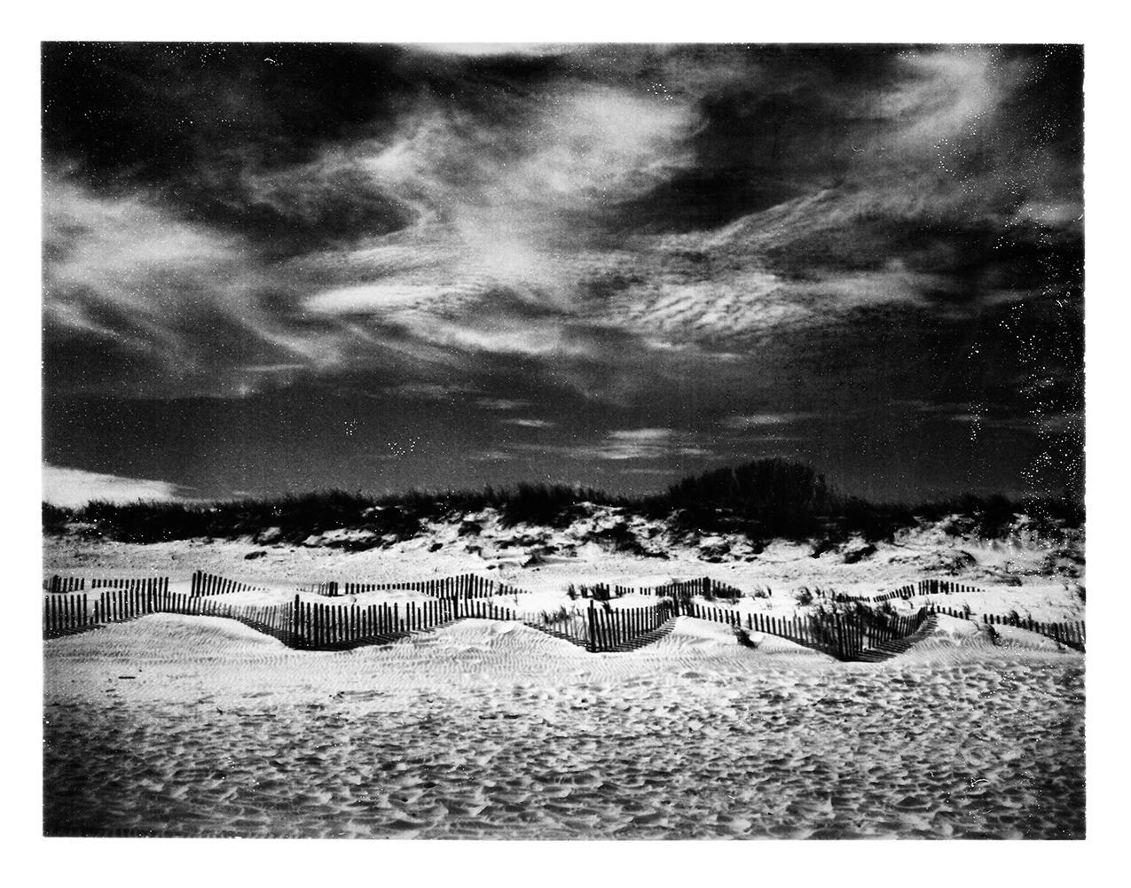 Seaside Dunes | Polaroid Land Camera 250 | Fuji FP300B | Keith Mendenhall