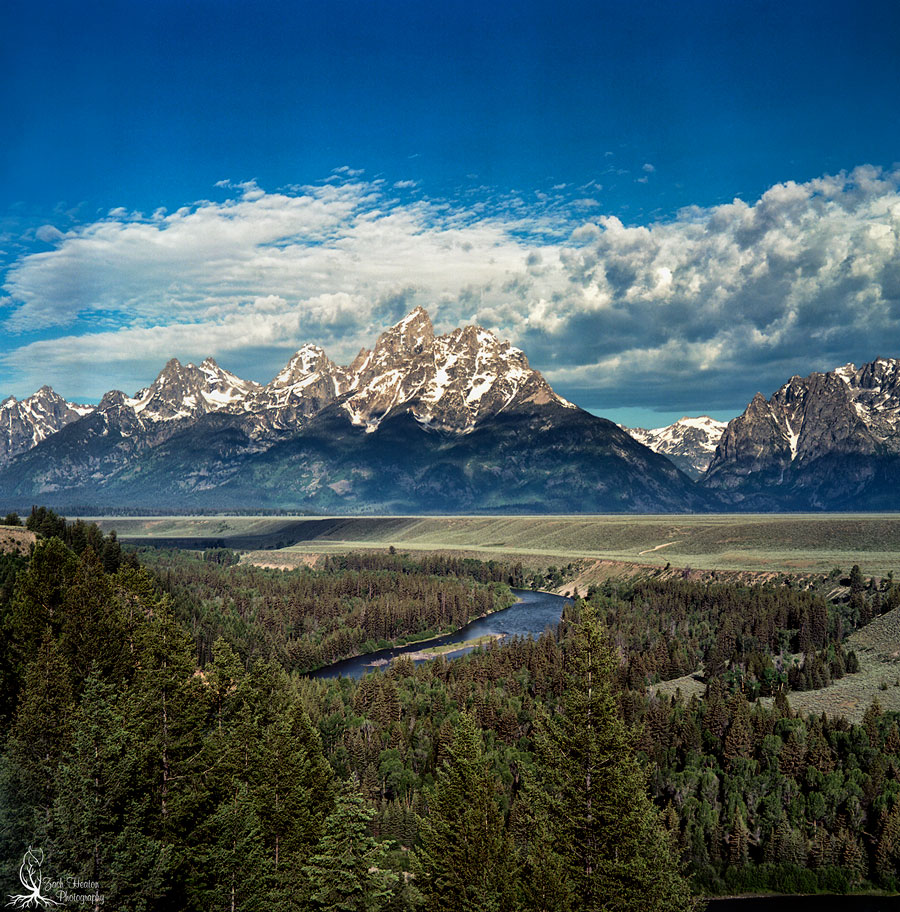 Snake River Overlook. Mamiya C3 | Really Right Stuff | Ektar100 F16-1\60 Made famous by Ansel Adams in 1942. Of course the trees were a lot smaller back then.