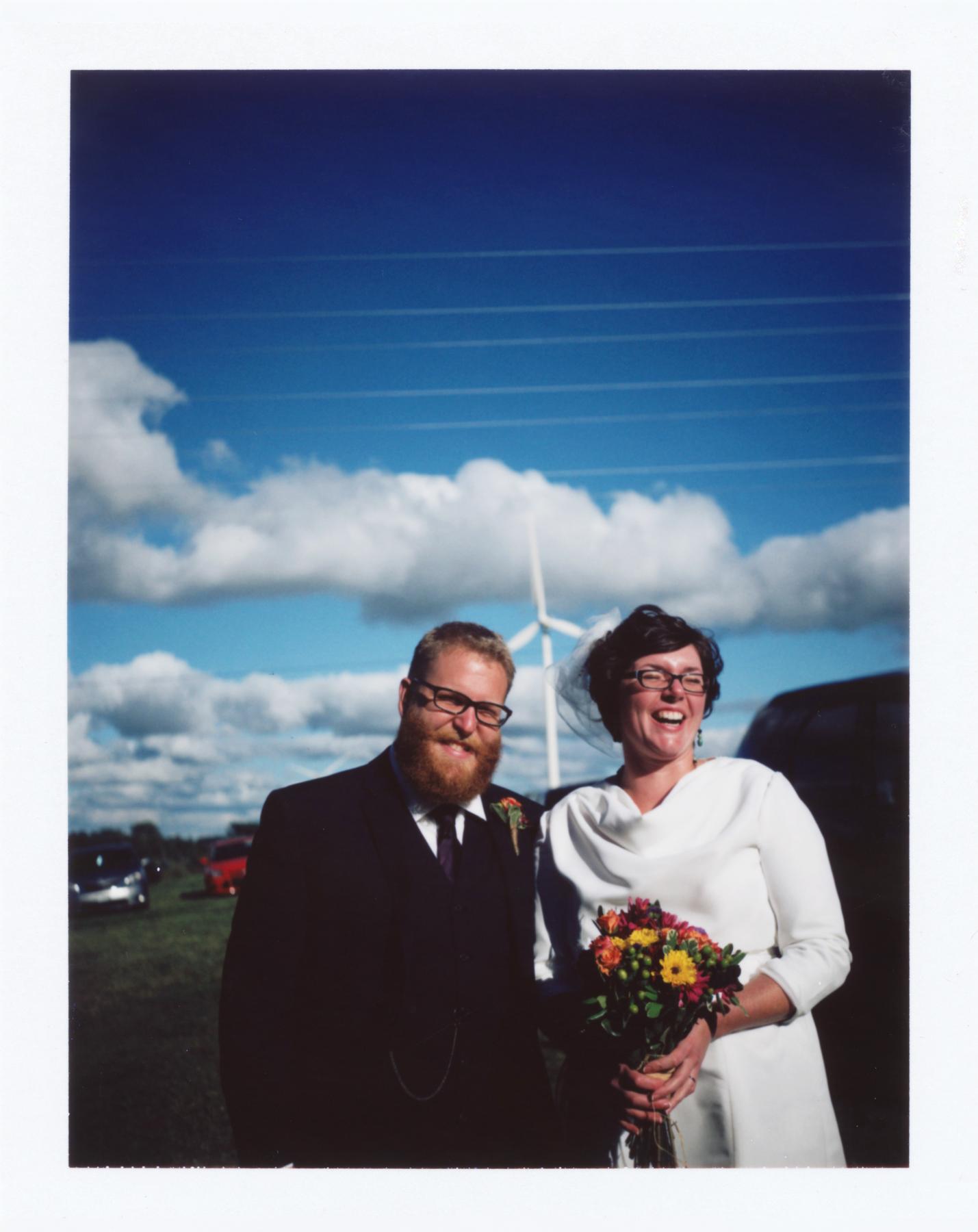 Wedding Day in Ludington | Polaroid Land Autoomatic 100 - Fuji FP100C | Gina Gorsek