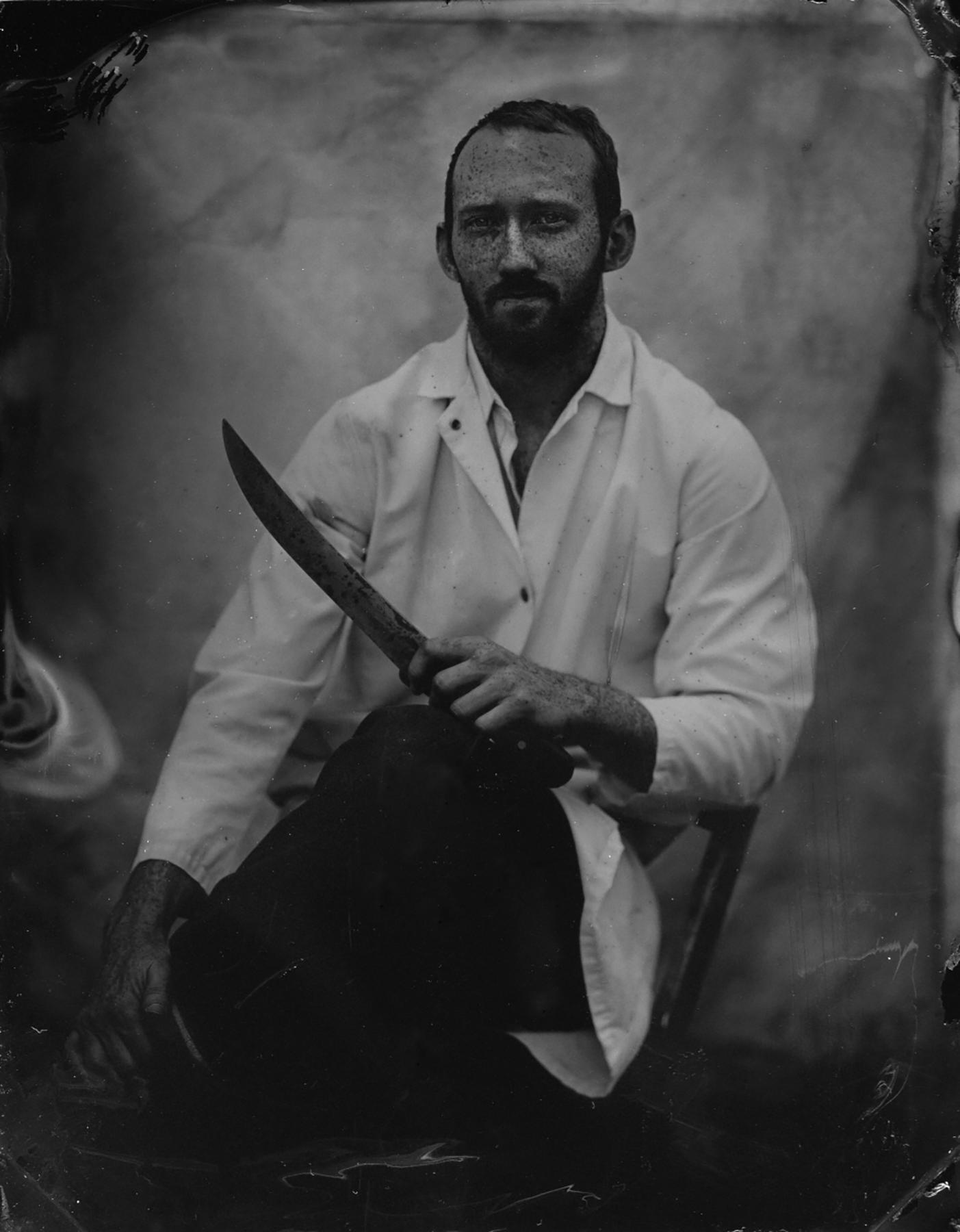 My Butcher | 4x5 Tintype | Sarah Taft