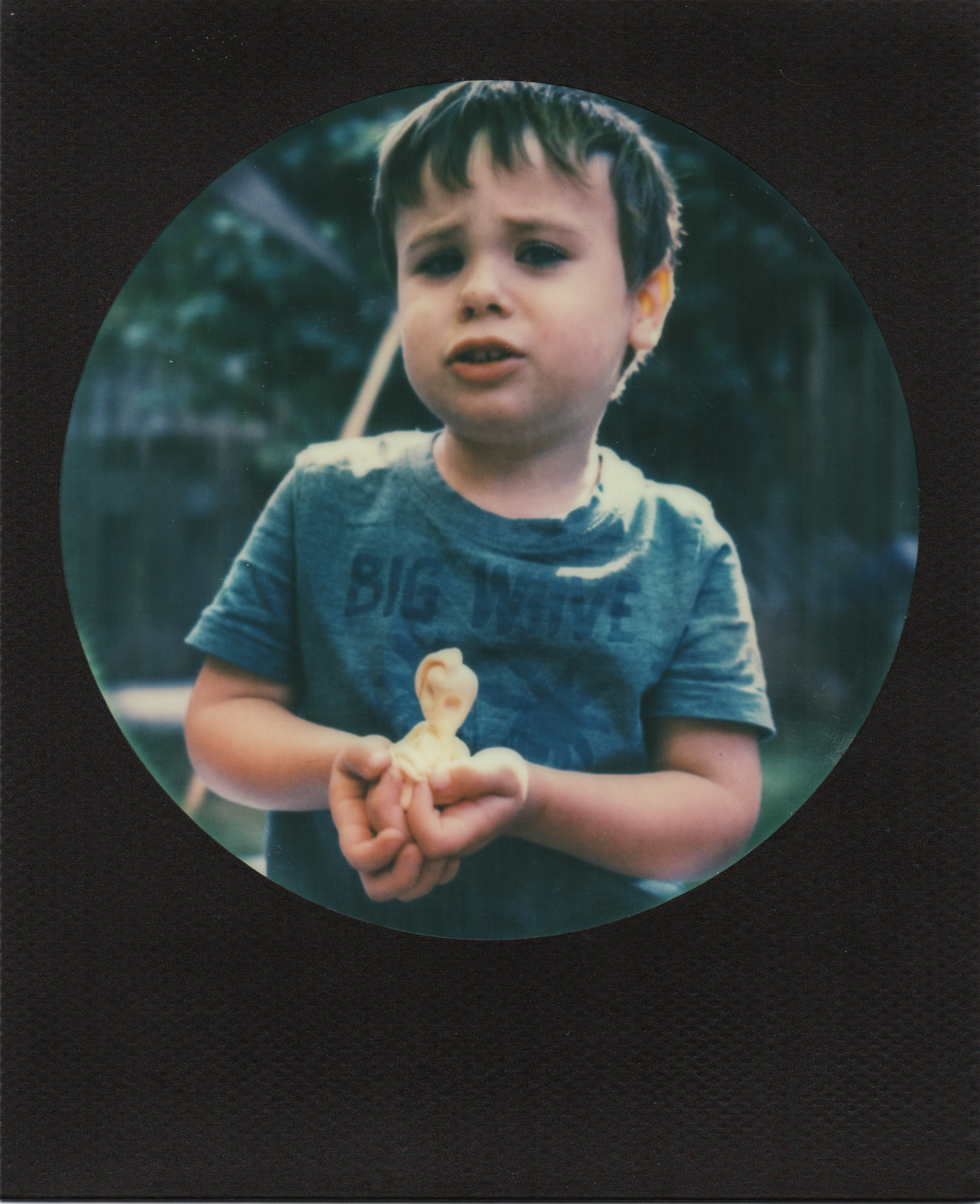 Look A Little Alien | Polaroid sx70 | Impossible Round Black Frame | Karin Klaus