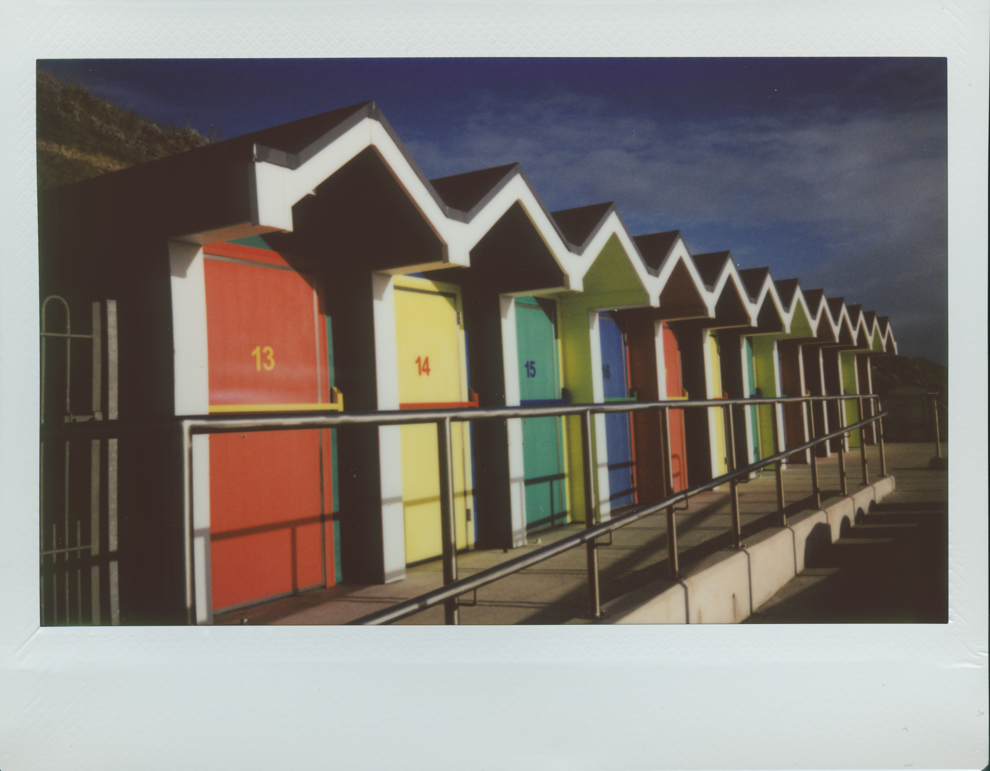 Barry Beach Huts | Instax Wide 210 | Roger Harrison