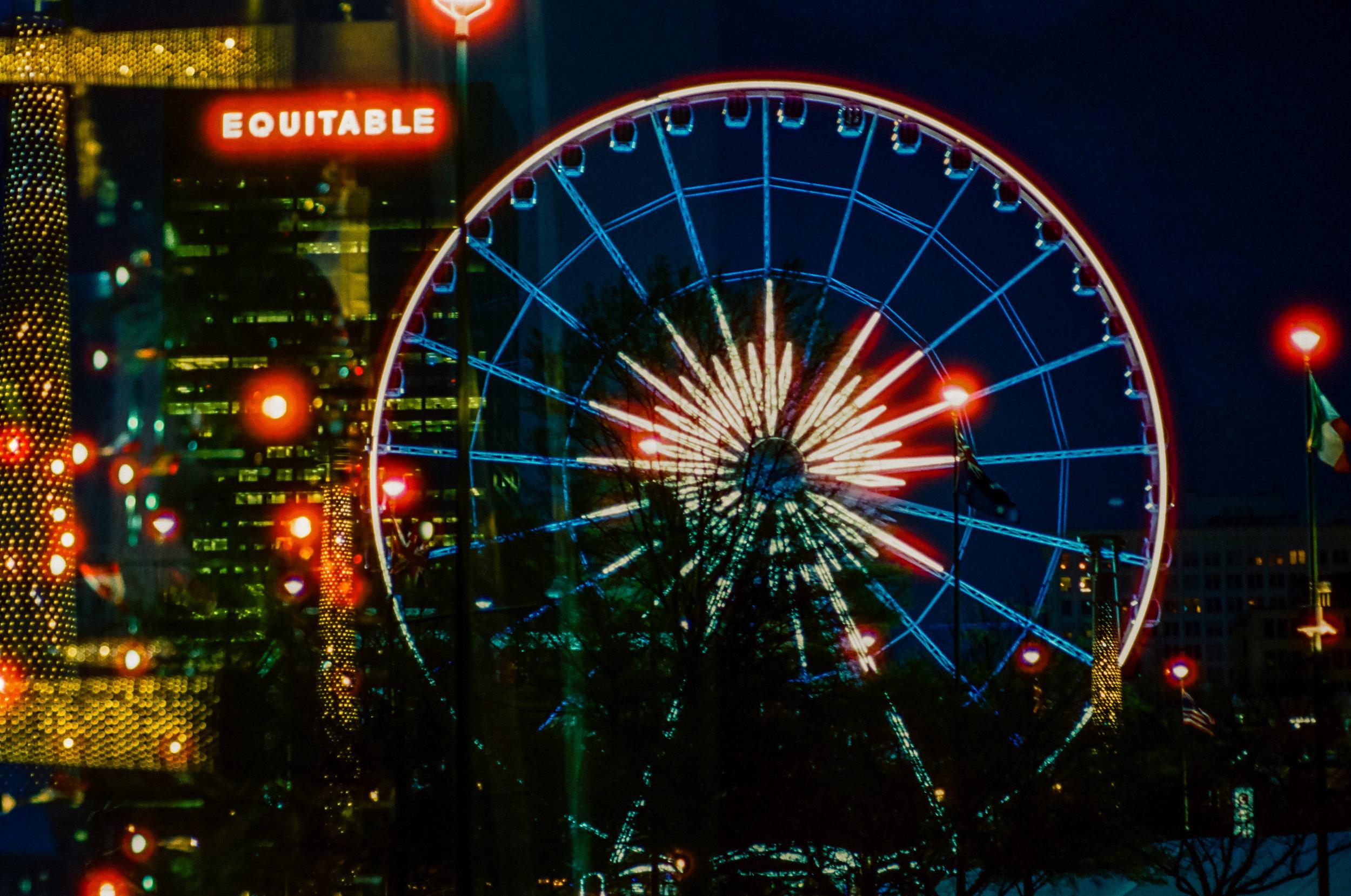 Atlanta Nights | Pentax Spotmatic F | Super Takumar 50mm F1.4 | Cinestill 800T | Michael Fauscette