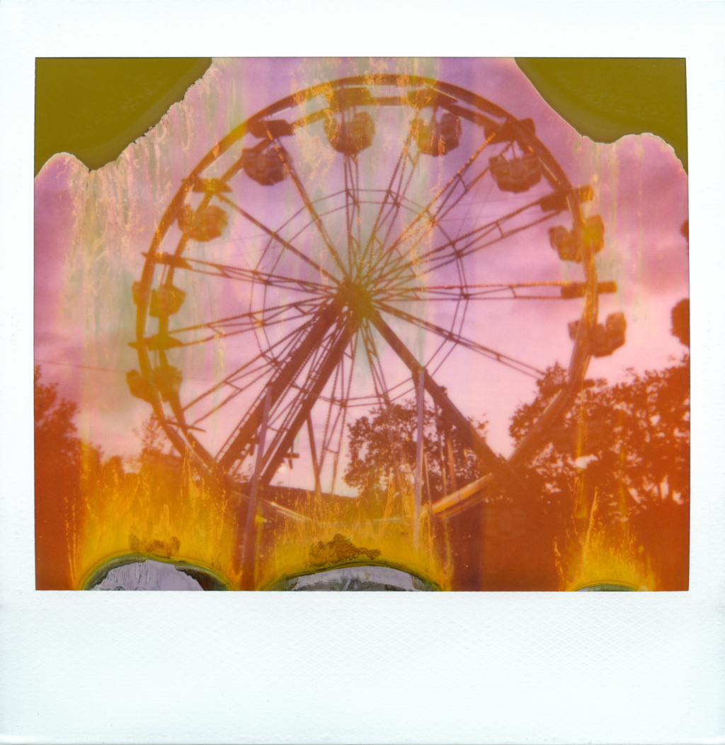 The Wheel Takes You Up And Brings You Down | Polaroid Spectra First Edition | Polaroid Spectra (Expired) | Nicholas Marshall | @monodistortion