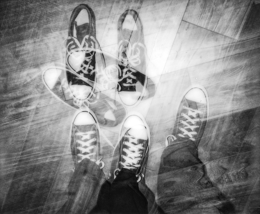 Footsteps | Polaroid Spectra Pro | Impossible Project Spectra BW | Michael Fauscette | @mfauscette
