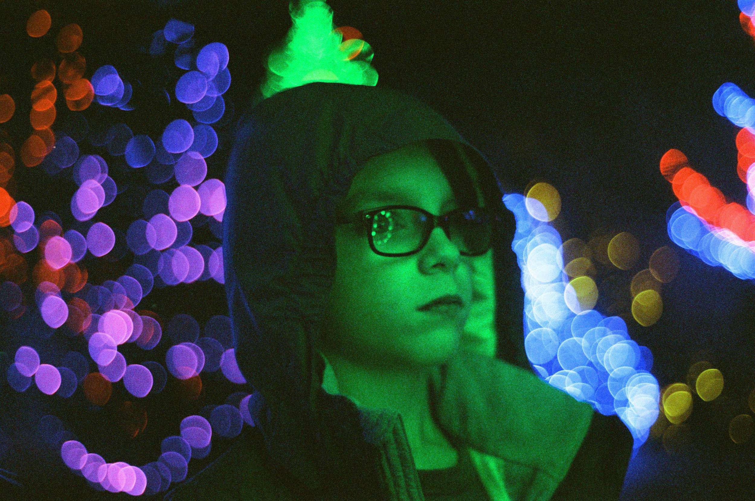show of lights F100   Cinestill 800   Deborah Candeub