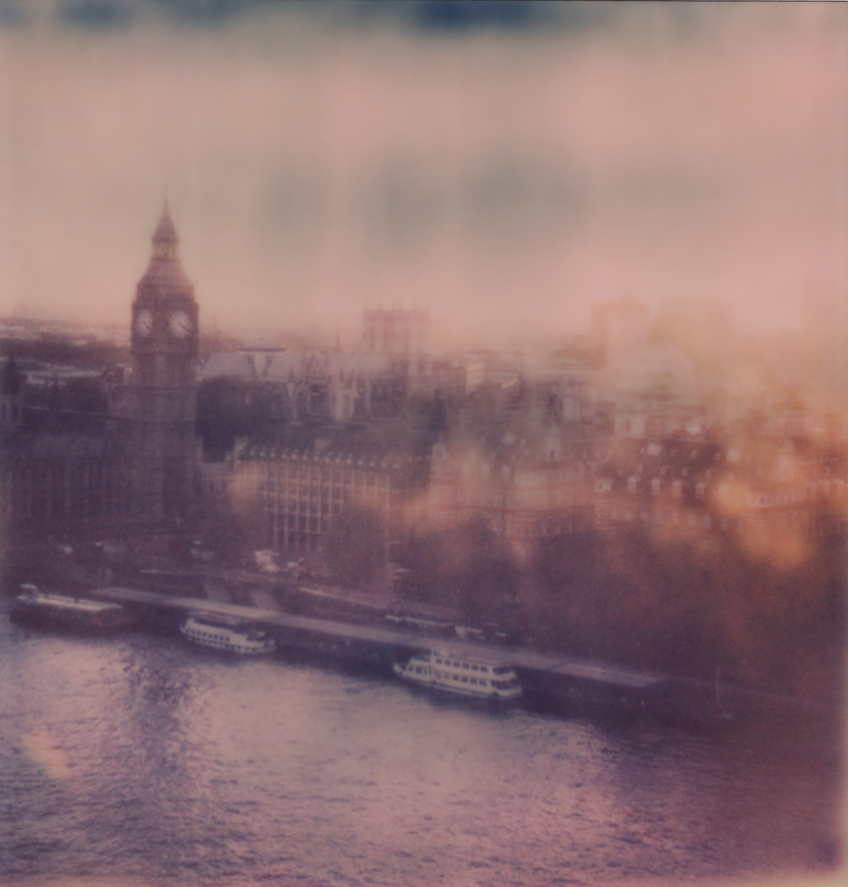 London Eye Sunset | Impossible Project Instant Lab | Heather Polley