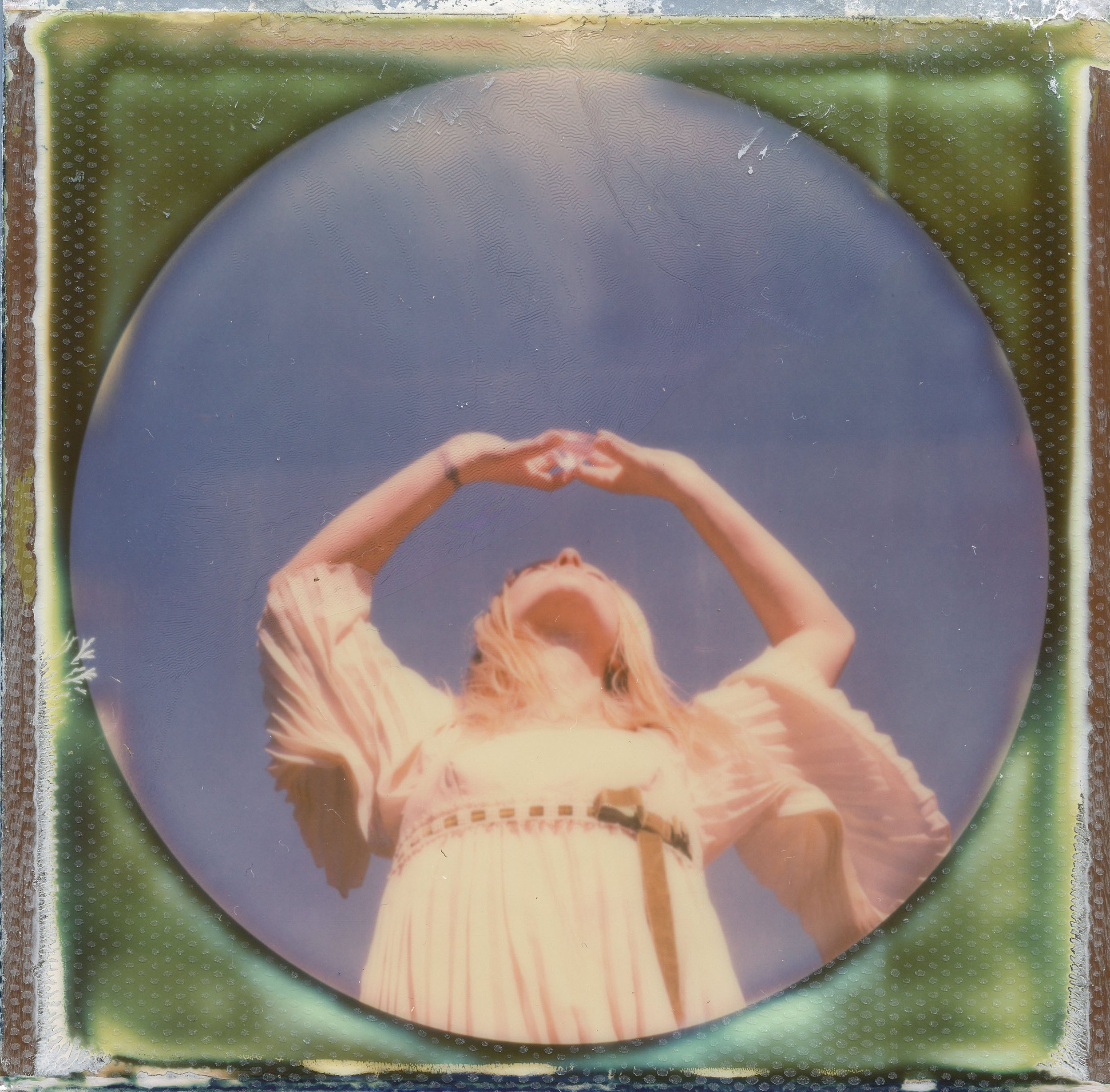 Crystal Conscience | SX-70 | Expired Impossible Project Round Frame | Britt Grimm