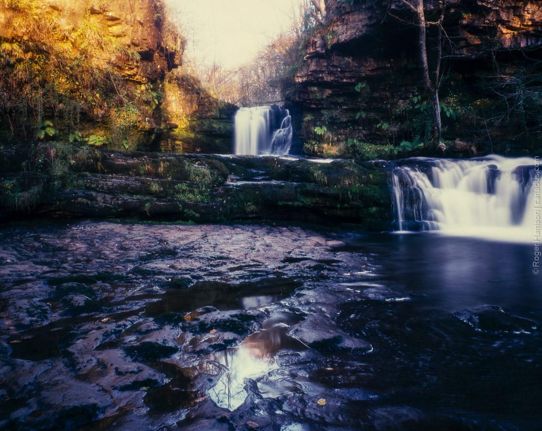 Lower Ddwli Falls, Neath Valley on expired Provia