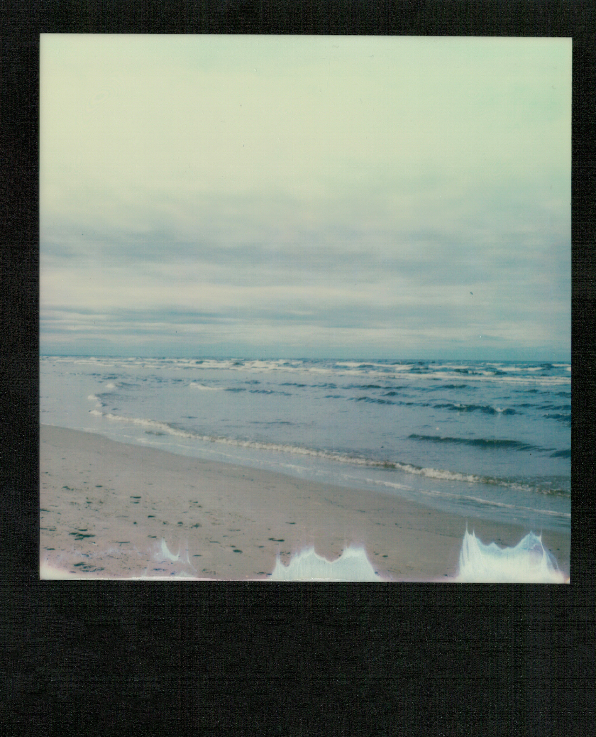 Nothing but a sea | Polaroid SX70 | Alpha 1 | Impossible Color  | ND filter | Ioana Taut