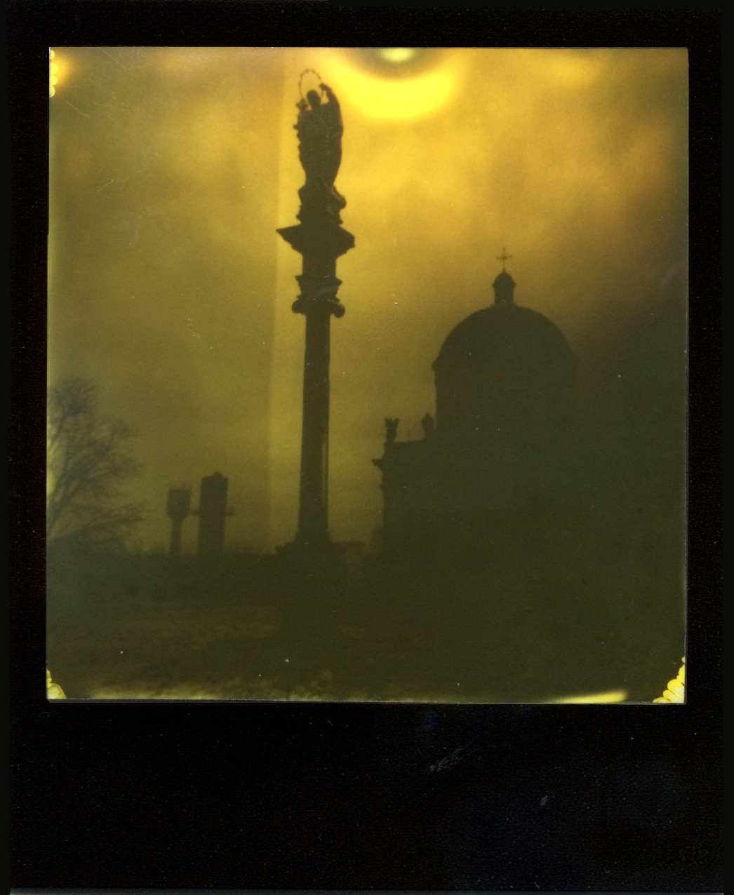 Sign From Above | Polaroid Impulse AF | Impossible Project Duochrome Film | Ostap Protsyk